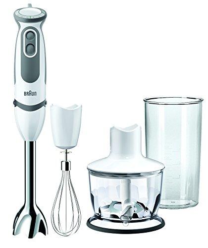 Braun MQ5035 Sauce Mixer a Immersione, Minipimer, 750 W, 0.6 Litri, 0 Decibel, Plastica, 21 velocità, Bianco