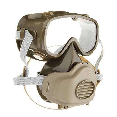 SRBI Full Face Mask Goggles Respirator Gas Chemical Dust Smoke Fire Paint Protector