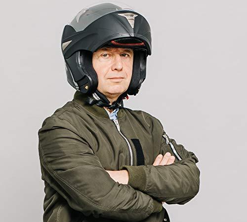 Westt Torque · Casque Moto Modulable Double Visière en Noir Mat pour Scooter Chopper · Casque de Moto Homme et Femme · ECE Homologué