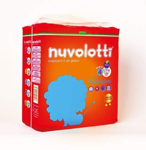 180 pannolini x bambino nuvolotti quarta taglia 8/18 kg in offerta made in italy
