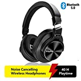 Wireless Active Noise Cancelling Headphones Bluetooth 5.0,Srhythm NC75 Pro Over-Ear Headset with CVC8.0 Mic,Fast Charge,Hi-Fi,40 Hours Playtime for all Bluetooth Devices - 2019 Upgrated