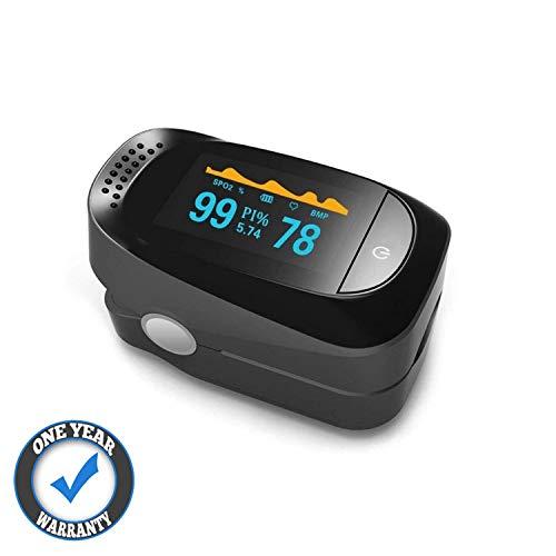 QooTec Ossimetro da Dito Display OLED, Saturimetro Saturazione Ossigeno nel Sangue, Indice di...