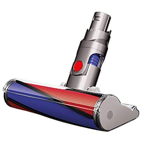 Dyson 966489-01Testina per aspirapolvere con spazzola, colore ferro/rosso/viola