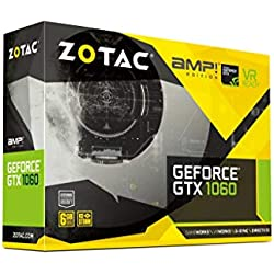ZOTAC GeForce GTX 1060 AMP Edition 6GB GDDR5X 192-bit Gaming Graphics Card (ZT-P10620C-10M)