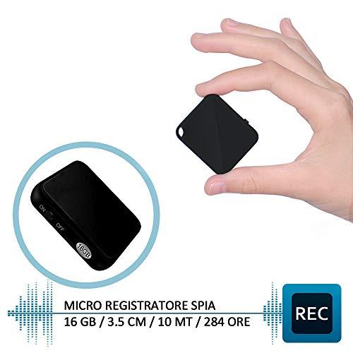 HY Mini Registratore Vocale, Registratore Vocale Portatile 16GB, Ricaricabile USB, MP3, Registratore...