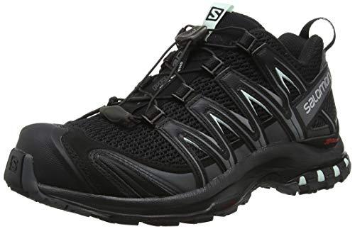 Salomon XA Pro 3D, Calzado de Trail Running para Mujer, Negro (Black/Magnet/Fair Aqua), 38 2/3 EU
