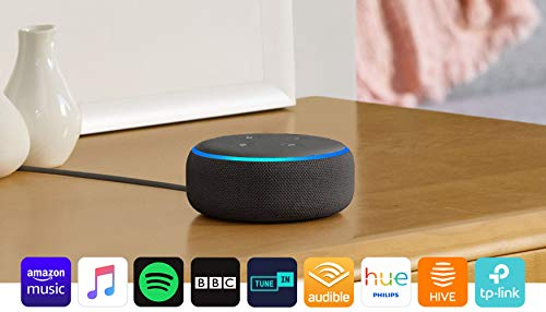Echo Dot (3rd Gen) - Smart speaker with Alexa - Charcoal Fabric 8  Echo Dot (3rd Gen) – Smart speaker with Alexa – Charcoal Fabric 415VZsL8eRL