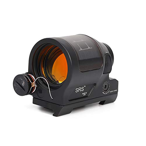 Laecabv Reflex Sight Solar Power System Tactical SRS 1X38 Red DOT Sight Scope with QD Mount Optics Scope