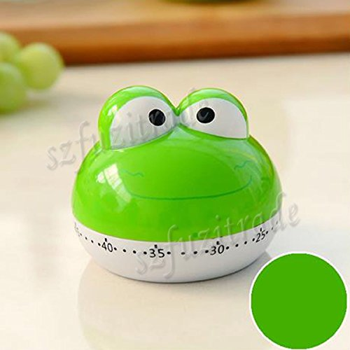 New Design Cute Lovely Frog 55 Mins Animal Kitchen Timer Countdown Timer for Kithen Kids - Multi Colors by Generic