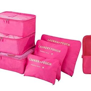 Styleys Packing Cubes 7 Set Lightweight Travel Luggage Organizers with Laundry Bag or Toiletry Bag or Shoe Bag 5