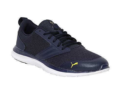 Puma Men's Agile t1 NM IDP Peacoat-Blazing Yellow Sneakers-9 UK/India (43 EU) (4060979625976)
