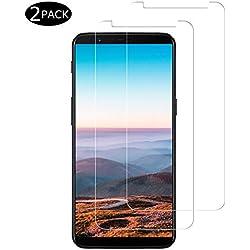 Miuphro [2-Pack Protector Pantalla para OnePlus 5T, Cristal Templado OnePlus 5T, Vidrio Templado con [2.5d Borde Redondo] [9H Dureza] [Alta Definicion]