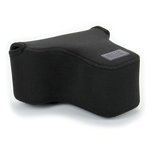 Kameratasche für Spiegelreflexkameras von USA Gear: Kamera-Schutzhülle aus hochwertigem Neopren für DSLR/SLR, mit Zubehörtasche, Schwarz, ideal für Canon EOS 1300D/200D, Nikon D3400 und mehr