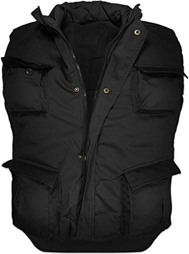 0fb7171e43b7 1. normani Wattierte Outdoor Weste mit Vielen Taschen in Verschiedenen  Farben, gefüttert Farbe Schwarz Größe 6XL