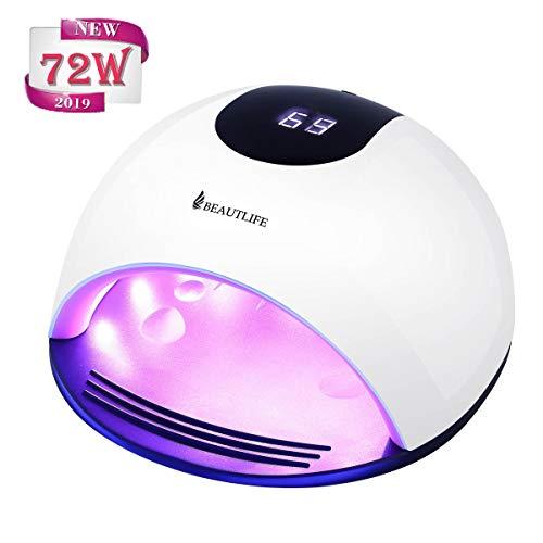 Lampada Led Unghie 72 Watt Beautlife Fornetto Unghie Semipermanente Gel Unghie Automatico LED UV...
