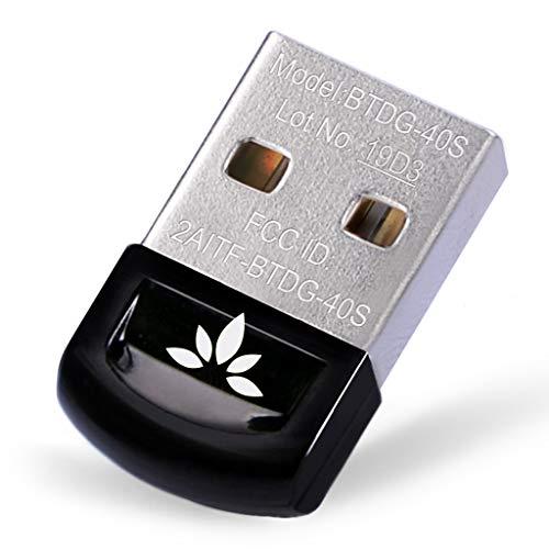 Avantree DG40S USB Bluetooth 4.0 Dongle Stick Adapter für PC mit Windows 10, 8.1, 8, 7, XP, Vista, EINSTECKEN & EINSCHLATEN or IVT Treiber, Unterstützt BT Kopfhörer, Lautsprecher, Mäuse, Tastatur