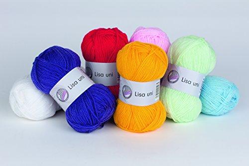 25x50-Gr-Lisa-Strickgarn-Strick-Wolle-Set-XL-keine-Farbauswahl-mglich