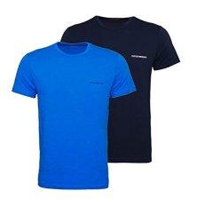 Emporio-Armani-Camiseta-de-Manga-Corta-elstica-algodn-X-Large-BLUAzzurro