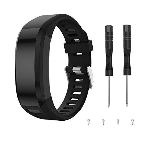 TOPsic Garmin Vivosmart HR Cinturino, accessori Regolabile silicone morbido di ricambio per orologio Cinturino per orologio progettato per Garmin Vivosmart HR