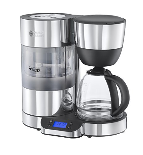 Russell Hobbs Purity Brita water filter drip coffee device bundle (black and silver) (1 month of Brita Maxtra) (1 cartridge) (15 cups)
