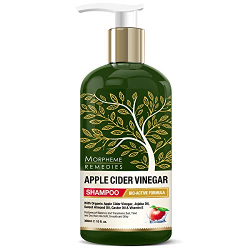 Morpheme Remedies Apple Cider Vinegar Shampoo No Sulfate, Paraben or Silicon, Transforms Dull, Tired and Dry Hair Into Soft, Smooth and Silky (300 ml)