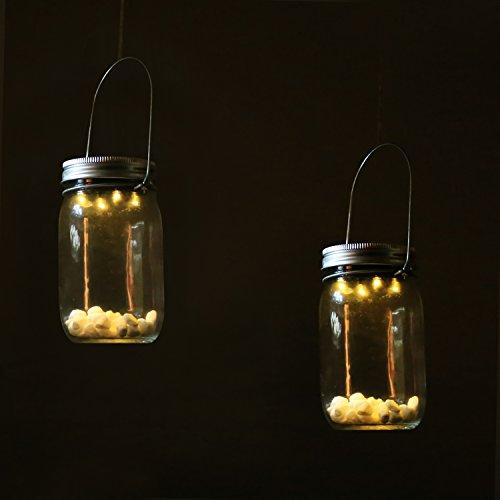 Homdox Solar LED Hängeleuchte Laterne Leuchte im Einmachglas Sun Jar - 3