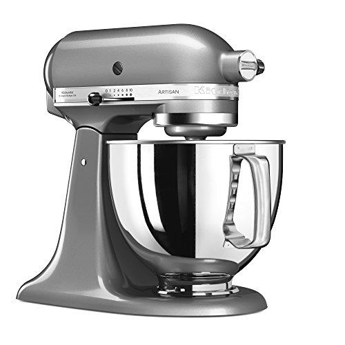 KitchenAid 144281 Robot da Cucina con Corpo Motore Mobile Artisan da 4,8 L IKSM125CU, 300 W, 4.8...
