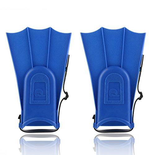 Pixnor pinne regolabili da bambino per snorkeling, Peso leggero, pinne da nuoto e subacquea, attrezzi di apprendimento (Blu)
