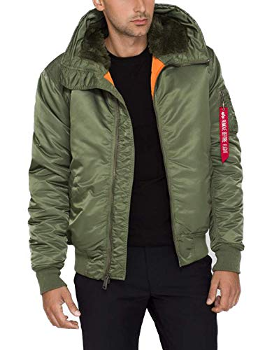 Alpha Industries Uomo Giacche / Giubbotto Bomber MA-1 Hooded