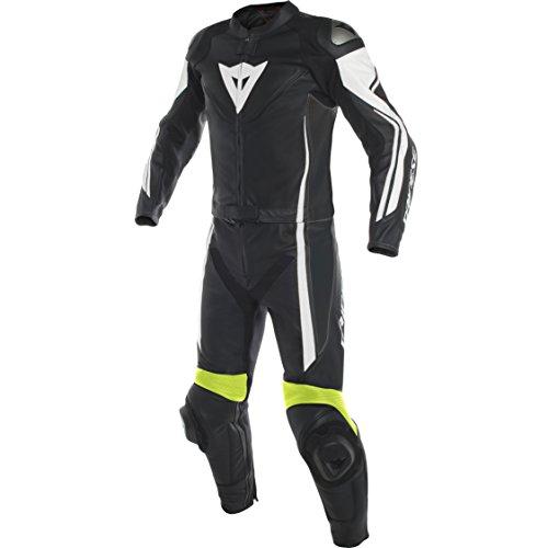 Monos de moto Dainese 1513459-Q90-56 piel, Negro/Blanco/Fluorescente