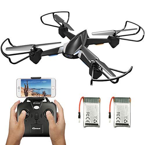 EACHINE E32HW Drone con Telecamera HD 720MP WiFi e FPV APP 2 Batteria Funzione di Sospensione Altitudine Headless Mode e Ritorno con un Solo Tasto e Prezzo Contenuto (Nero)