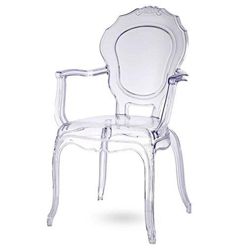 Damiware Broxster sedie | Sedia per Cucina - Soggiorno - Sala da Pranzo | Materiale Trasparente | Cristallo (Cristallo)