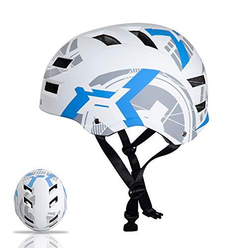 Automoness Skaterhelm, Radhelm Kinderhelm Sporthelm Bike Helmet Fahrradhelm CE-Zertifizierung, 4 Größen für Erwachsene, Jugendliche, Kinder, geschützt für Fahrrad, Rollschuh, Skateboard, Longboard usw