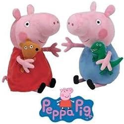 Ty Peluche - Peppa Pig e George Pig Peppa Pig Serie 15cm