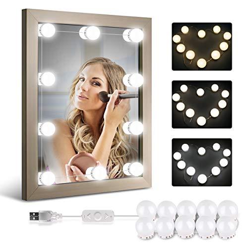 Luci da Specchio Make Up, Luci da trucco LED, homeasy USB Lampadine da Specchio da Trucco 10PCS...