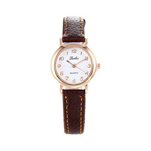UKCOCO Orologio da donna piccolo elegante alla moda in pelle con quadrante digitale Piccolo orologio...