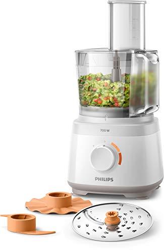 Philips Cucina HR7310/00 Robot da Cucina Multifunzione con Oltre 16 Funzioni, Disco 2-in-1 in...
