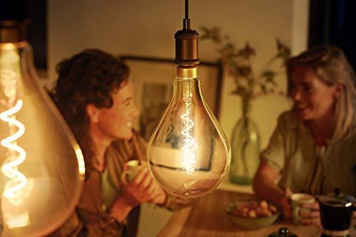 416A08AcQaL Bon Philips Hue !  Philips ampoule LED Giant Standard Vintage Filament E27 5W Equivalent 25W Claire Ambrée Blanc chaud