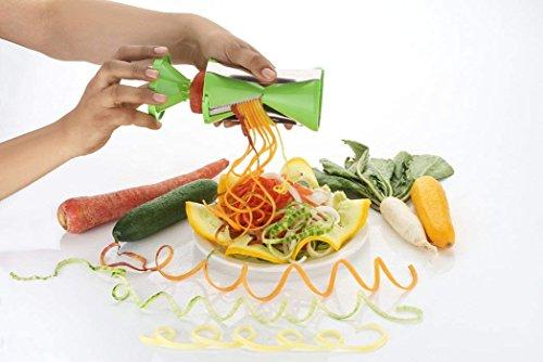 Cloudsell ABS Plastic Slicer Vegetable Peeler and Spiralizer, Pasta Maker (Green)