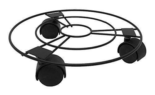 Metall Pflanzenroller 2er Set (3 Rollen 25cm Durchmesser, Schwarz)