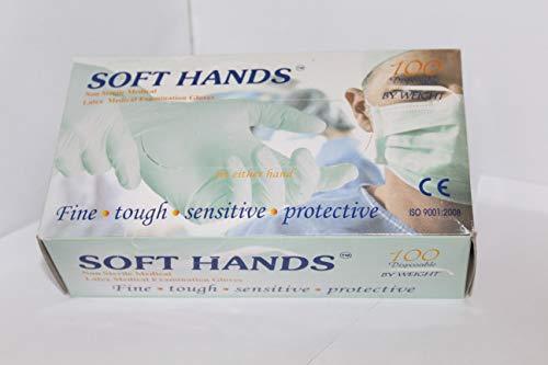 SOFT HANDS LATEX MEDICAL EXAMINATION GLOVES MEDIUM