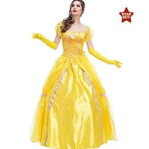 COSOER Disfraz De Cosplay del Rey De La Bella Y La Bestia Ropa De Personaje De Película Carnaval De Halloween Ropa De Pareja,Princess1-L