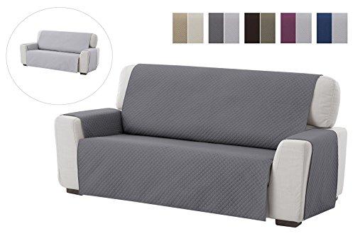 textil-home Salvadivano Trapuntato Copridivano Adele 1 posti/Copripoltrona Reversibile. Colore Grey