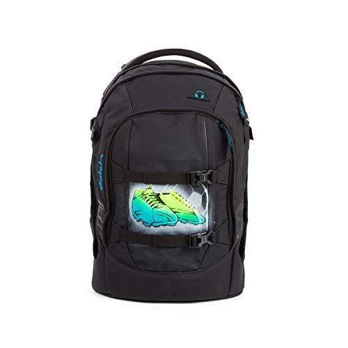 Satch Pack Black Bounce, Schwarz, ergonomischer Schulrucksack, 30 Liter, Organisationstalent