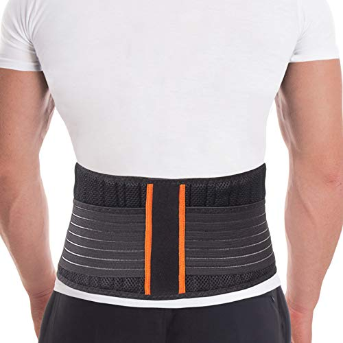 Cintura lombare di sostegno - Fascia Schiena Elastica Lombare - Cintura lombare terapeutica-8 rigide...