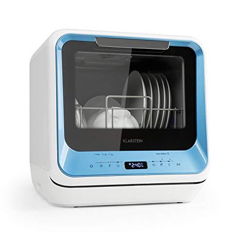 Klarstein Amazonia • Mini Spülmaschine • Geschirrspüler • Geschirrspülmaschine • EEC: A • 6 Programme • 5 Liter Wasser benötigt • LED-Display • Touch • inkl. Zubehör • blau