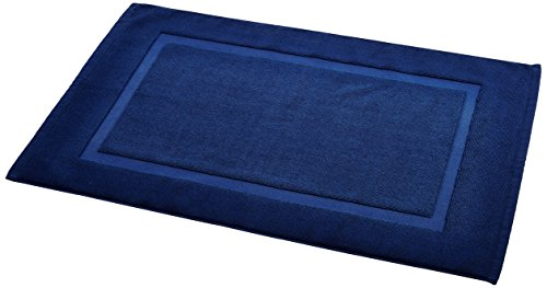 AmazonBasics Badvorleger mit rechteckiger Bordüre, Marineblau, 100% Baumwolle (1.200 g/m²), 50,8 x...