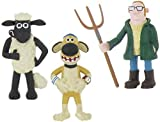 Shaun the Sheep - Set 3 Figures Shaun Bitzer Farmer ca. 7 - 9,5 cm by Comansi