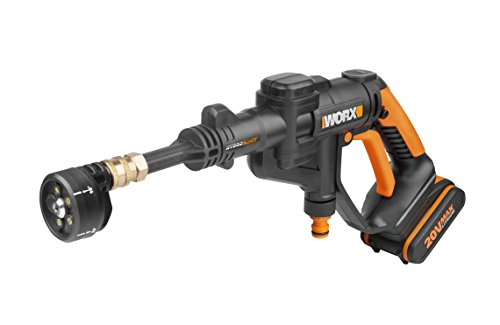 WORX WG629E.1 18V 20V MAX Cordless HYDROSHOT Portable Pressure Cleaner - This is another powerful 18V pressure washer that possesses multiple spray functions and a high psi of 320. It doesn't possess wheels like the Bosch model but in terms of cleaning, it is up to par.  Additionally, it comes with accessories such as a cleaning bucket, different lengths of lances and a carry bag. All these accessories add to the value for the money spent.