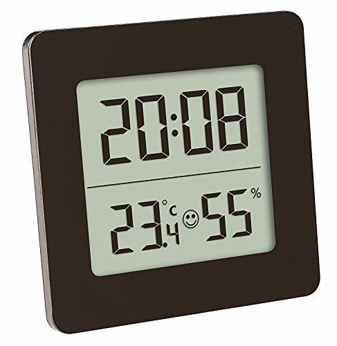 TFA 30.5038 Termometro igrometro digitale controllo della temperatura e umidità, nero con batterie